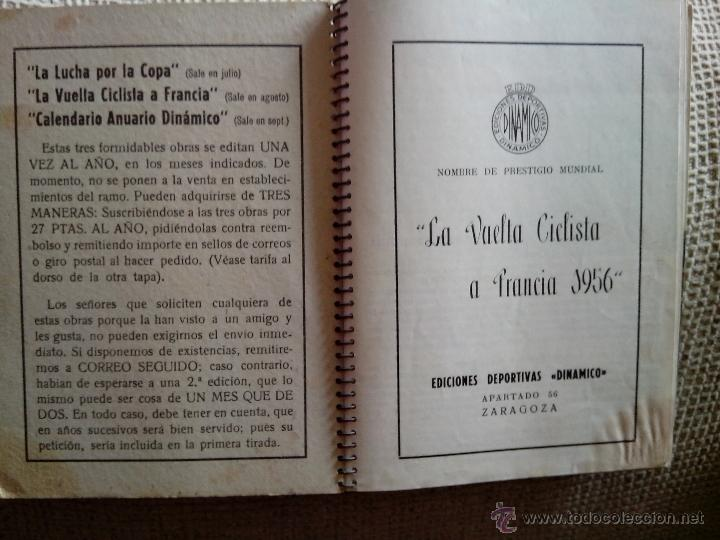 Coleccionismo deportivo: Libro Vuelta Ciclista a Francia Tour de Francia 1956 (Dinámico) - Foto 4 - 50994227