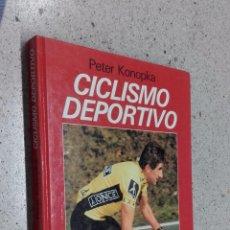Coleccionismo deportivo: CICLISMO DEPORTIVO. PETER KONOPKA. TAPA DURA DINA4 158 PG EDITORIAL JUVENTUD. Lote 57419534