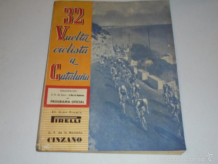 32 VUELTA CICLISTA A CATALUÑA, PROGRAMA OFICIAL 1951 , ILUSTRADO, XII GRAN PREMIO PIRELLI (Coleccionismo Deportivo - Libros de Ciclismo)