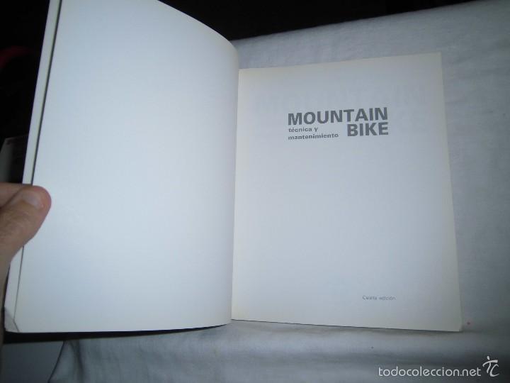 Coleccionismo deportivo: MOUNTAIN BIKE TECNICA Y MANTENIMIENTO.MARCO REY-GIORGIO SCHMITZ.EDITORIAL TUTOR 1992.-4ª EDICION - Foto 2 - 57528327