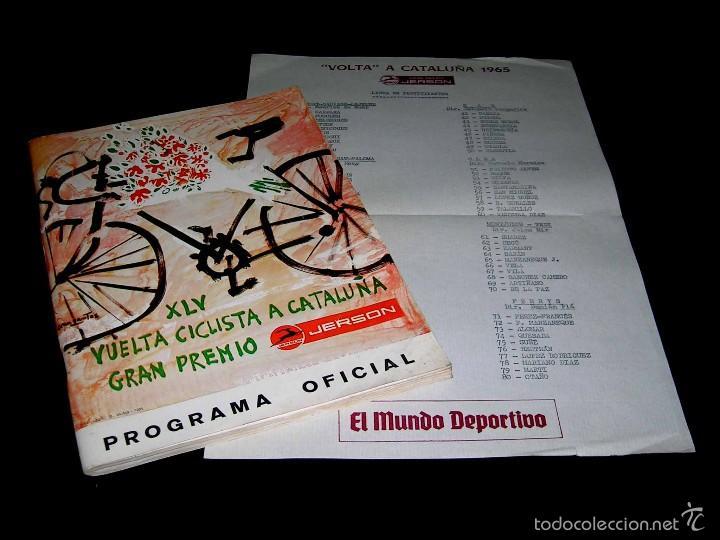 VUELTA XLV VOLTA CICLISTA CATALUÑA 1965, PROGRAMA OFICIAL, U.D.S. UNIÓN DEPORTIVA SANS. CICLISMO. (Coleccionismo Deportivo - Libros de Ciclismo)