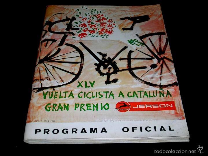 Coleccionismo deportivo: Vuelta XLV Volta Ciclista Cataluña 1965, Programa Oficial, U.D.S. Unión Deportiva Sans. Ciclismo. - Foto 2 - 57967296