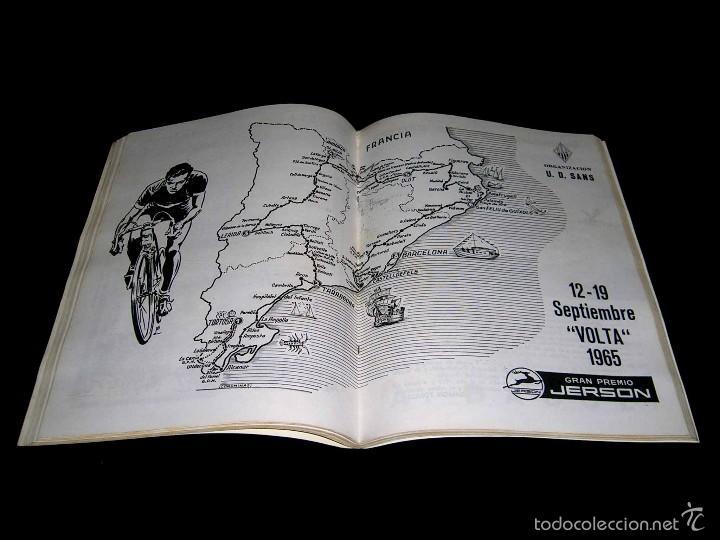 Coleccionismo deportivo: Vuelta XLV Volta Ciclista Cataluña 1965, Programa Oficial, U.D.S. Unión Deportiva Sans. Ciclismo. - Foto 4 - 57967296