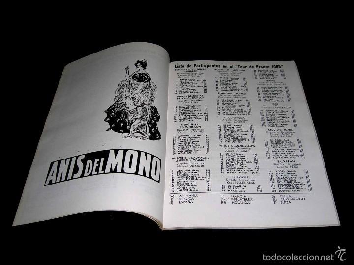 Coleccionismo deportivo: Ciclismo Tour de Francia France 1965, Programa oficial zona española, Barcelona. Participantes... - Foto 2 - 211626886