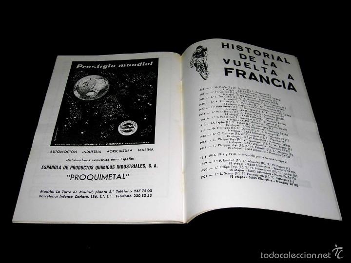 Coleccionismo deportivo: Ciclismo Tour de Francia France 1965, Programa oficial zona española, Barcelona. Participantes... - Foto 8 - 211626886