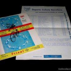 Coleccionismo deportivo: CAMPEONATO ESPAÑA CICLISMO FONDO RUTA CONTRA-RELOJ SABADELL, PROGRAMA ITINERARIO, 30 JULIO 1967.. Lote 57989888