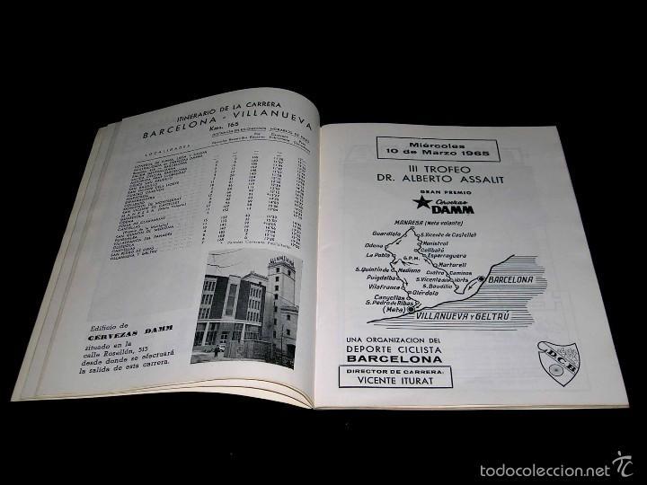 Coleccionismo deportivo: III Gran Semana del Ciclismo Catalán, Programas Itinerarios Oficiales, 10-14 Marzo 1965. - Foto 3 - 57990363
