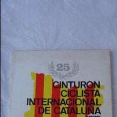 Coleccionismo deportivo: 25 CINTURON CICLISTA INTERNACIONAL DE CATALUÑA.SABADELL,1975.. Lote 58586000
