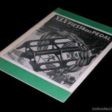 Coleccionismo deportivo: CICLISMO XLV FIESTA DEL PEDAL, BARCELONA / SAN JUSTO JUST DESVERN, PROGRAMA, 11 JUNIO 1961.. Lote 58657461