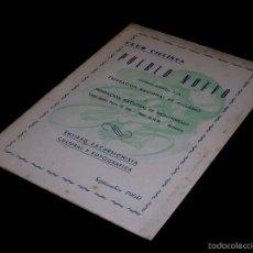 Coleccionismo deportivo: CICLISMO, CLUB CICLISTA PUEBLO NUEVO POBLE NOU, BOLETÍN, BARCELONA, SEPTIEMBRE 1960.. Lote 58657629