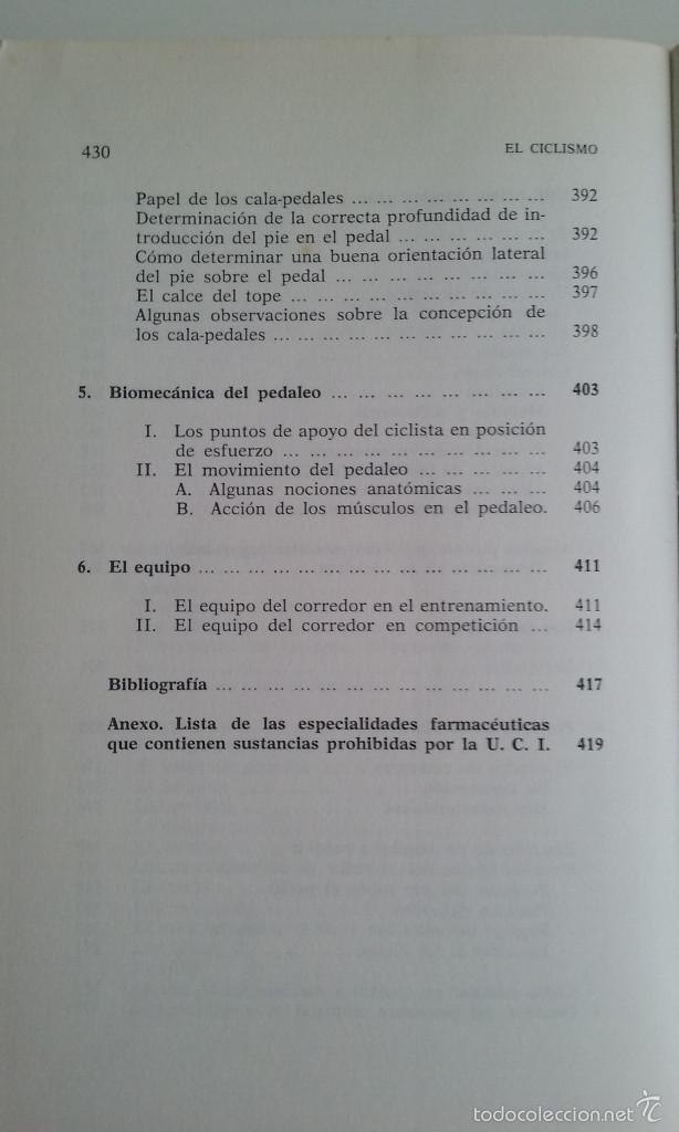 Coleccionismo deportivo: LIBRO/EL CICLISMO/PREFACIO DE EDDY MERCKX. - Foto 7 - 60633335