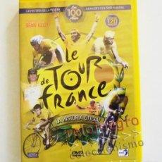 Coleccionismo deportivo: DVD LE TOUR DE FRANCE (EN ESPAÑOL) LA HISTORIA OFICIAL CICLISMO DEPORTE 100 AÑOS ENTREVISTAS FRANCIA. Lote 64154979