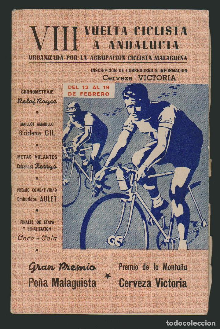VIII VUELTA CICLISTA A ANDALUCIA.AÑO 1961.PROGRAMA + CARTEL. (Coleccionismo Deportivo - Libros de Ciclismo)