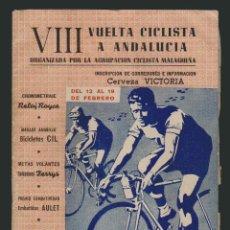 Coleccionismo deportivo: VIII VUELTA CICLISTA A ANDALUCIA.AÑO 1961.PROGRAMA + CARTEL.. Lote 73940615