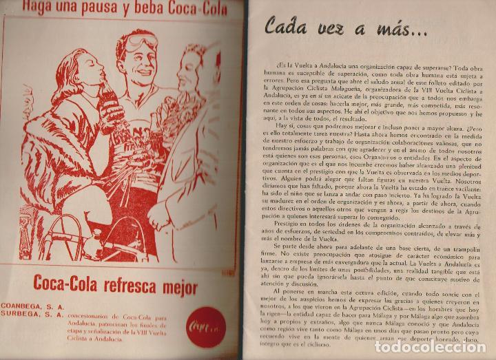 Coleccionismo deportivo: VIII vuelta ciclista a Andalucia.Año 1961.Programa + cartel. - Foto 2 - 73940615