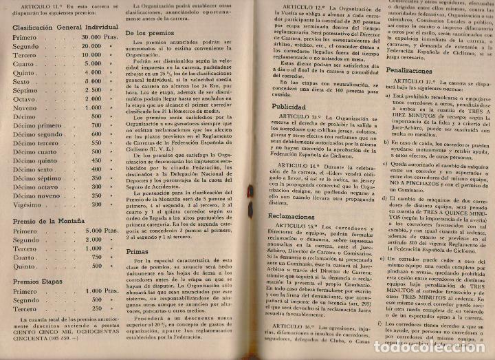 Coleccionismo deportivo: VIII vuelta ciclista a Andalucia.Año 1961.Programa + cartel. - Foto 5 - 73940615