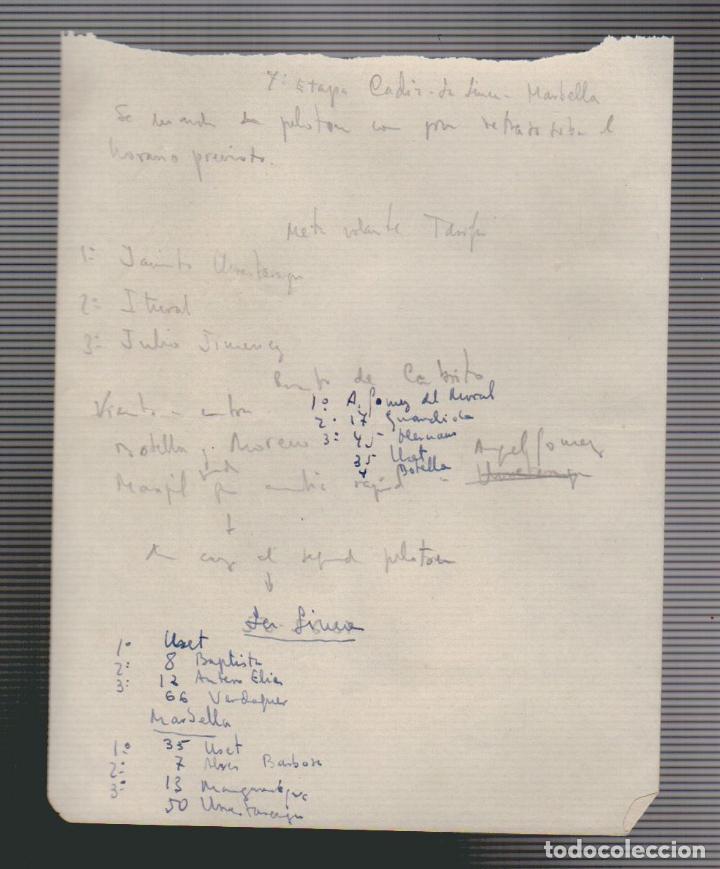 Coleccionismo deportivo: VIII vuelta ciclista a Andalucia.Año 1961.Programa + cartel. - Foto 11 - 73940615