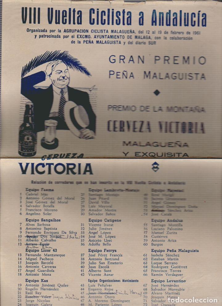 Coleccionismo deportivo: VIII vuelta ciclista a Andalucia.Año 1961.Programa + cartel. - Foto 14 - 73940615