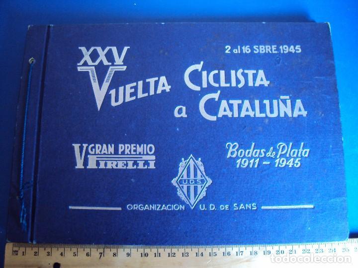 (CAT-170201)ALBUM PROGRAMA OFICIAL DE LA VUELTA CICLISTA A CATALUÑA, V GRAN PREMIO PIRELLI, AÑO 1945 (Coleccionismo Deportivo - Libros de Ciclismo)