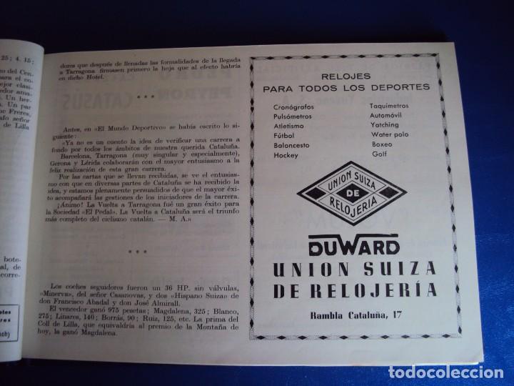 Coleccionismo deportivo: (CAT-170201)Album Programa Oficial de la vuelta Ciclista a Cataluña, V Gran premio Pirelli, año 1945 - Foto 7 - 74944079