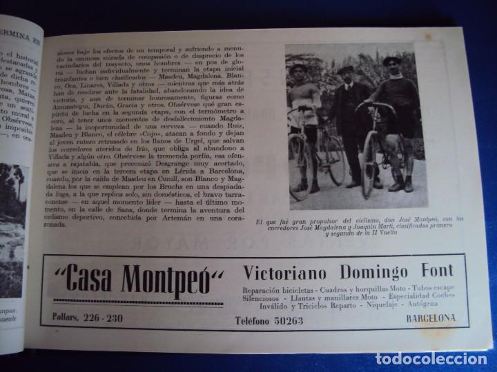 Coleccionismo deportivo: (CAT-170201)Album Programa Oficial de la vuelta Ciclista a Cataluña, V Gran premio Pirelli, año 1945 - Foto 8 - 74944079
