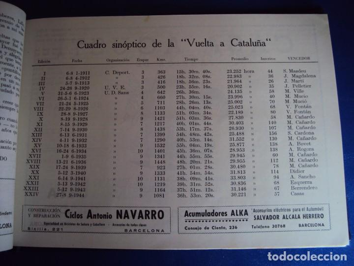 Coleccionismo deportivo: (CAT-170201)Album Programa Oficial de la vuelta Ciclista a Cataluña, V Gran premio Pirelli, año 1945 - Foto 9 - 74944079