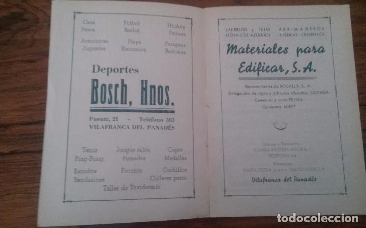 Coleccionismo deportivo: PROGRAMA CICLISMO DEPORTIVO VELODROMO VILAFRANCA, FIESTA MAYOR 1956. - Foto 2 - 113102883