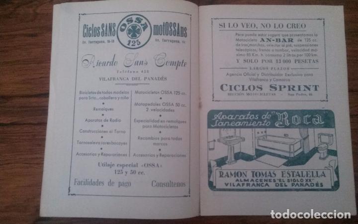 Coleccionismo deportivo: PROGRAMA CICLISMO DEPORTIVO VELODROMO VILAFRANCA, FIESTA MAYOR 1956. - Foto 3 - 113102883