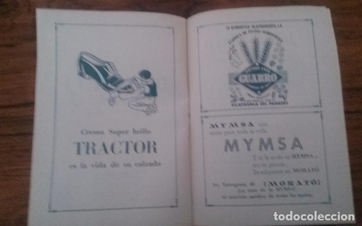 Coleccionismo deportivo: PROGRAMA CICLISMO DEPORTIVO VELODROMO VILAFRANCA, FIESTA MAYOR 1956. - Foto 5 - 113102883