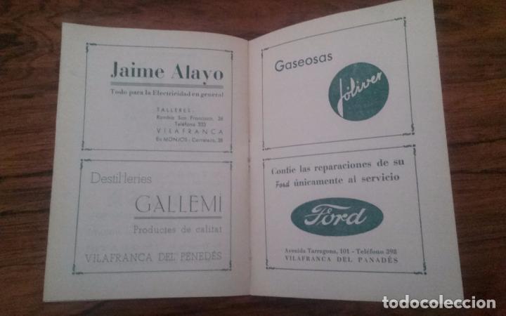 Coleccionismo deportivo: PROGRAMA CICLISMO DEPORTIVO VELODROMO VILAFRANCA, FIESTA MAYOR 1956. - Foto 6 - 113102883
