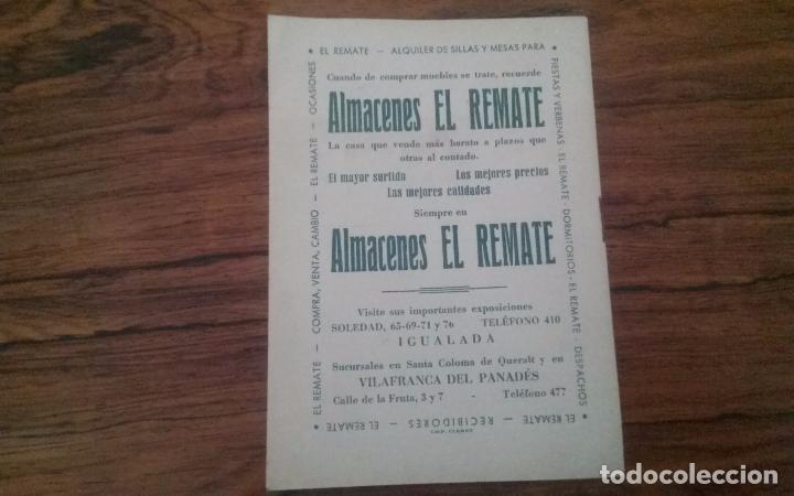 Coleccionismo deportivo: PROGRAMA CICLISMO DEPORTIVO VELODROMO VILAFRANCA, FIESTA MAYOR 1956. - Foto 7 - 113102883
