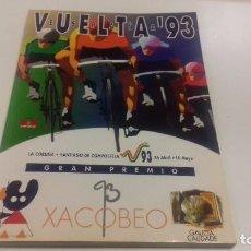 Coleccionismo deportivo: PROGRAMA OFICIAL VUELTA A ESPAÑA 1993. 170 PÁGINAS. EXCELENTE ESTADO. Lote 78465157