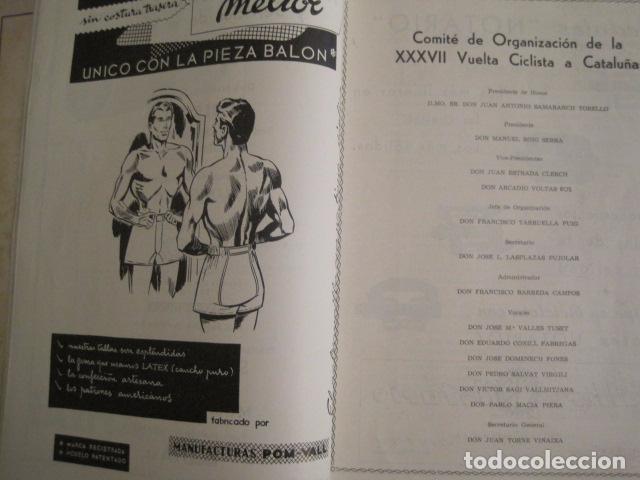 Coleccionismo deportivo: XXXVII VUELTA CICLISTA CATALUÑA - AÑO 1957 -VER FOTOS -(V-10.408) - Foto 4 - 82338036