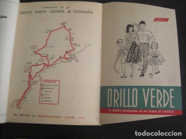Coleccionismo deportivo: XXXVII VUELTA CICLISTA CATALUÑA - AÑO 1957 -VER FOTOS -(V-10.408) - Foto 5 - 82338036