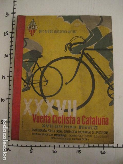Coleccionismo deportivo: XXXVII VUELTA CICLISTA CATALUÑA - AÑO 1957 -VER FOTOS -(V-10.408) - Foto 14 - 82338036