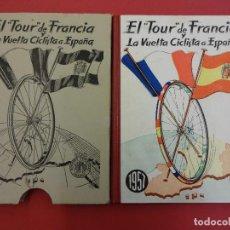 Coleccionismo deportivo: EL TOUR DE FRANCIA Y LA VUELTA CICLISTA A ESPAÑA 1957. ED. DEPORTIVAS DINAMICO. Lote 89678888
