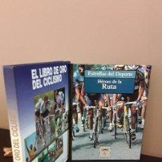 Coleccionismo deportivo: EL LIBRO DE ORO DEL CICLISMO + HEROS DE LA RUTA. Lote 90973525