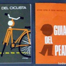 Coleccionismo deportivo - Guía Ciclista y Guía Peatón Dirección General Jefatura Central Tráfico 1972 - 94213725