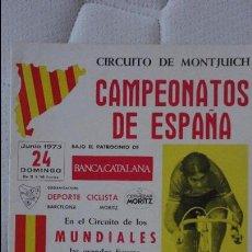 Coleccionismo deportivo: CAMPEONATOS ESPAÑA.CICLISMO.CIRCUITO MONTJUICH.BARCELONA-MORITZ.1973. Lote 95433851