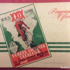 Coleccionismo deportivo: XXIX VUELTA CICLISTA A CATALUÑA. 1949. PROGRAMA OFICIAL.GRAN PREMIO PIRELLI. Lote 106093047