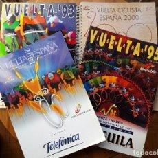 Coleccionismo deportivo: LIBROS OFICIALES DE RUTA VUELTA ESPAÑA,1993,1995,2000 Y 2001. Lote 107879635