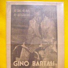 Coleccionismo deportivo: GINO BARTALI. EL MONJE VOLADOR. CICLISMO. 1963. Lote 108236887