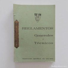 Coleccionismo deportivo: REGLAMENTO FEDERACIÓN ESPAÑOLA DE CICLISMO. AÑOS 70-80. Lote 118600263