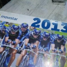 Coleccionismo deportivo: CALENDARIO DE CICLISMO MOVISTAR. Lote 120458651
