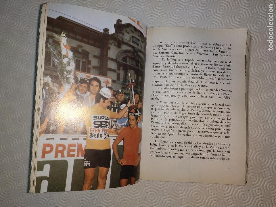 Coleccionismo deportivo: CICLO DE DOLOR. JOSE MANUEL FUENTE EL TARANGU.J.M. FUENTE Y J.L.ALVAREZ ZARAGOZA.SUMMA 1977. - Foto 4 - 120808134