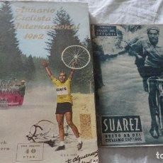 Coleccionismo deportivo: ANUARIO CICLISTA INTERNACIONAL 1962.RAMON TORRES.ALFONSO VERSNICK.ANTONIO VALLUGERA.BARCELONA. Lote 121368315