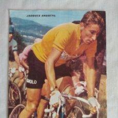 Coleccionismo deportivo: 100 AÑOS DE CICLISMO/FASCICULO Nº7/CONTRAPORTADA JACQUES ANQUETIL.. Lote 127142075