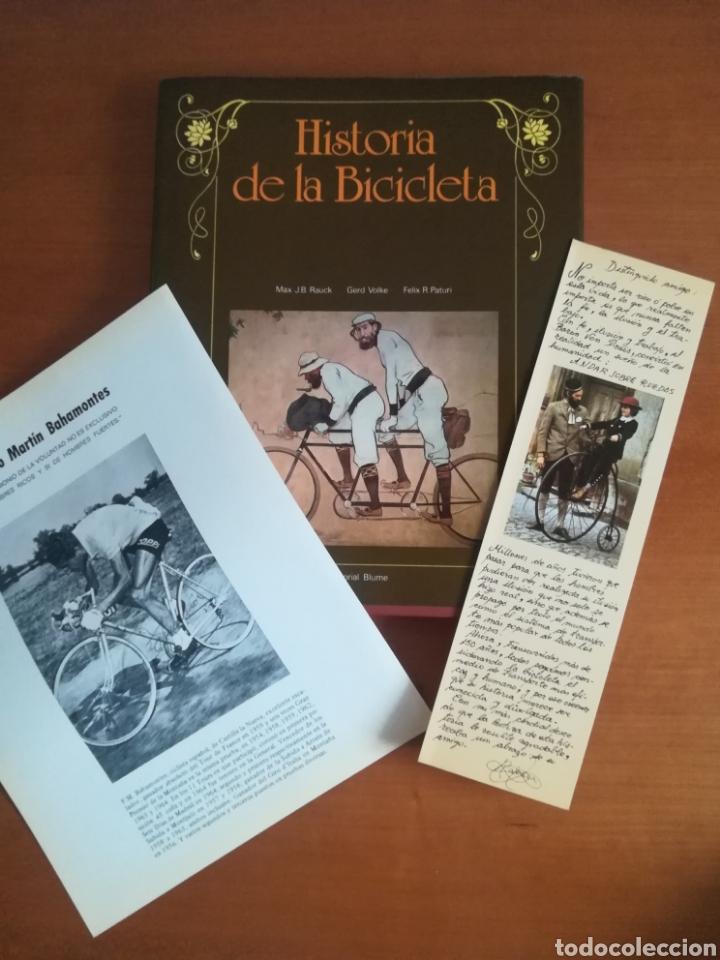 HISTORIA DE LA BICICLETA - RABASA DERBI CICLISMO BAHAMONTES (Coleccionismo Deportivo - Libros de Ciclismo)