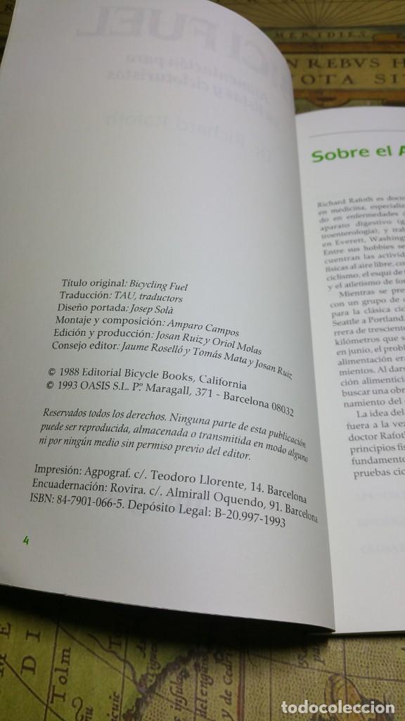 Coleccionismo deportivo: BICI FUEL. DR. RICHARD RAFOTH. ALIMENTACIÓN PARA CICLISTAS Y CICLOTURISTAS. INTEGRAL 1993. - Foto 2 - 139559366
