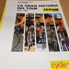 Coleccionismo deportivo: LA GRAN HISTORIA DEL TOUR / CICLISMO A FONDO / DE OCASIÓN.. Lote 142917106